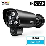 INSTAR IN-9008 Full HD schwarz - WLAN Überwachungskamera - IP Kamera - wetterfeste Außenkamera - Aussen - Alarm - PIR - Bewegungserkennung - Nachtsicht - Weitwinkel - LAN - Wi-Fi - RTSP - ONVIF