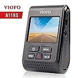 VIOFO A119S Autokamera DashCam Kompaktes Design FULL HD 1080P 60fps 7G-Objektiv Superkamera mit GPS, Parkmodus, Bewegungserkennung, G-Sensor, Loop-Aufnahme