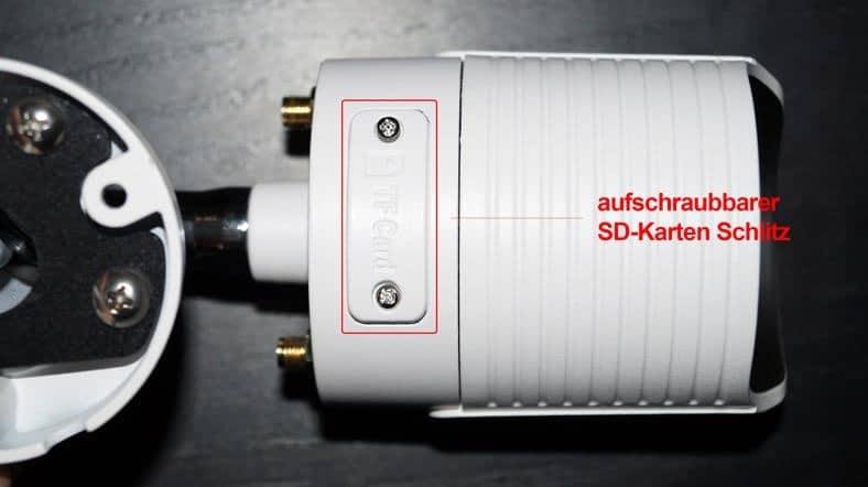 HiKam-A7-Test-SD-Karte-Schlitz