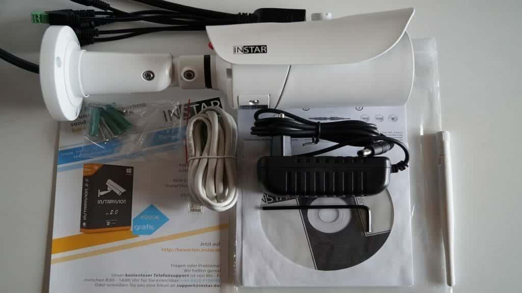 Instar IN-5905HD Lieferumfang - Outdoorkamera Vergleich