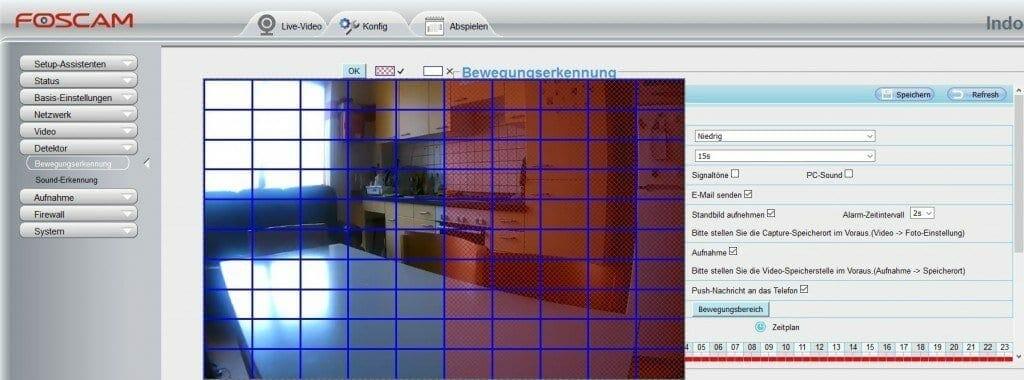 Foscam C1 Lite Testbericht - Bewegungserkennung