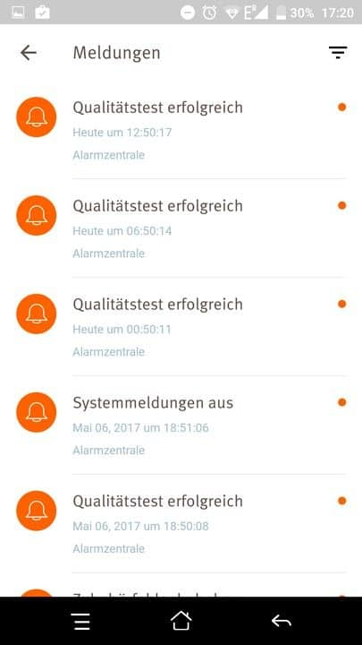 Egardia Alarmanlage App Meldungen
