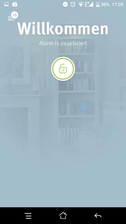 Übersichtsbildschirm Egardia App