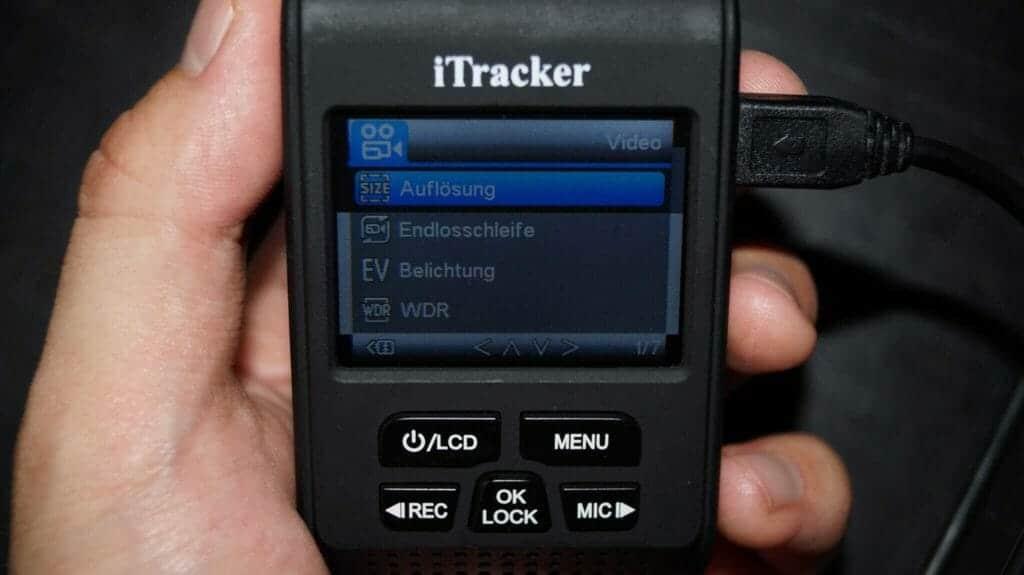 itracker-dc-a119s-menü-übersicht