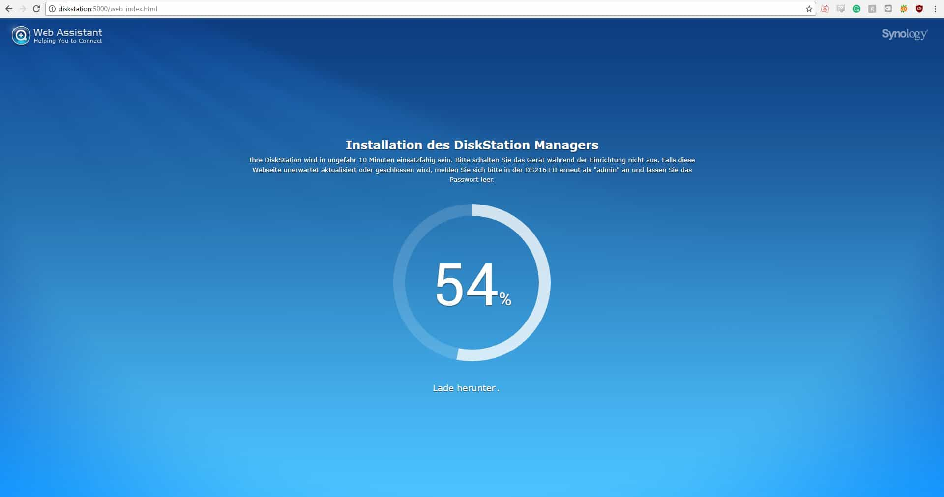 Synology DiskStation DS216+II Installation3