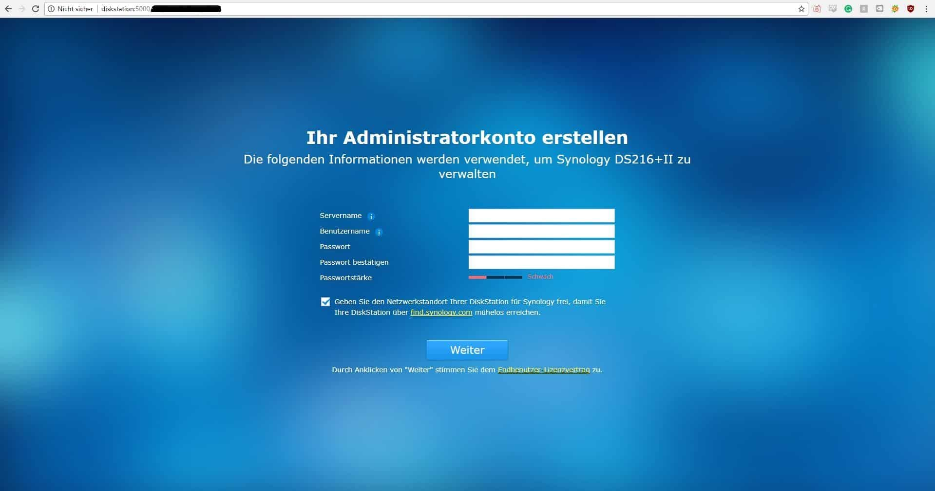 Synology DiskStation DS216+II Installation5