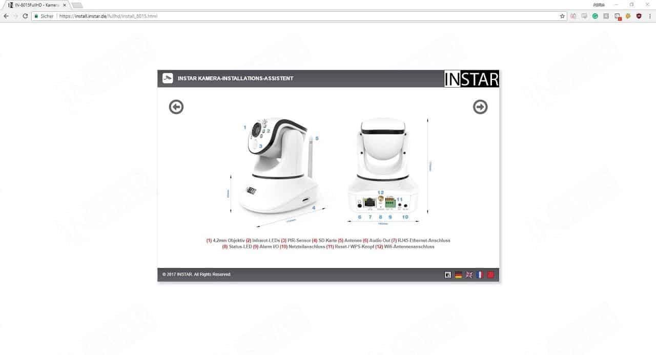 Instar IN-8015 Full HD Installationsschritt 1