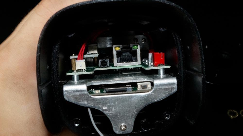 Instar IN-9008 Full HD IP Kamera Kaufen Rückseite abgenommen