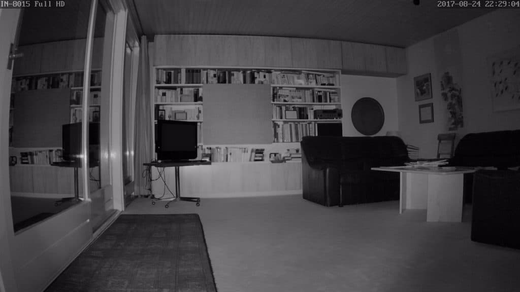 Nachtaufnahmen der Instar IN-8015 Full HD IP Kamera