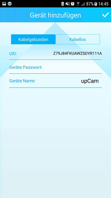 upCam Cyclone HD Eco App Integration 4