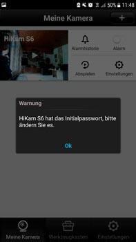 HiKam S6 Billig - Passwort ändern in der App