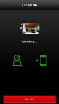 HiKam S6 Überwachungskamera Verbindungsaufbau