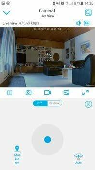 Reolink App PTZ Navigation