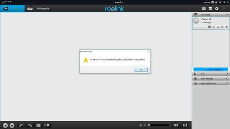 Reolink-Fehlermeldung-Windows-Software