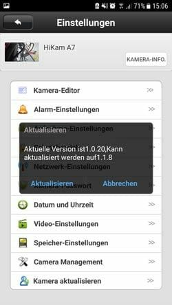 HiKam-A7-Test-Firmware-Update