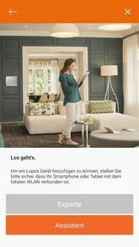 Lupusec-XT1-Plus-App-Integration---Assistentsauswahl