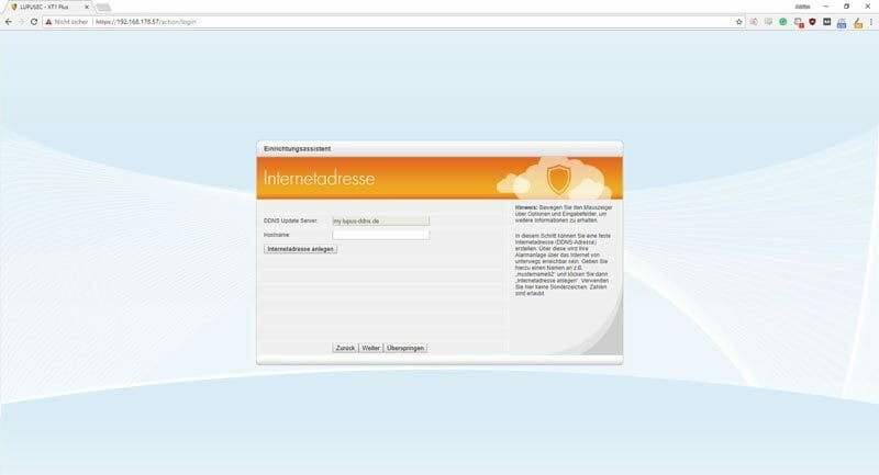 Lupusec-XT1-Plus-Installation---DDNS-Adressen-Auswahl