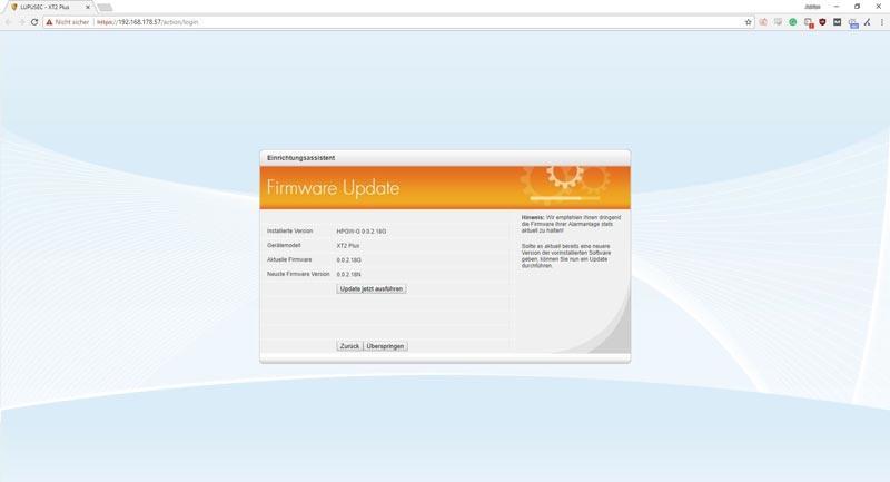 Lupusec-XT1-Plus-Installation---Firmware-Update