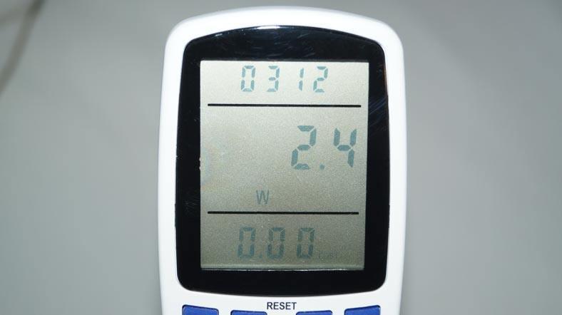 Lupusec-XT1-Stromverbrauch