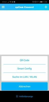 upCam-App-Geraet-hinzufuegen-Uebersichtsbildschirm-1