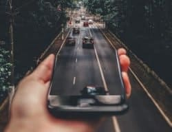 Smartphone-Dashcam-Strasse